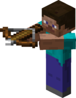 Steve aiming with Crossbow.png