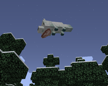 Polární liška, která skáče.