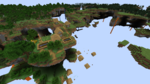 Buffet world with the Floating Islands generator and vanilla layered biomes.png