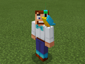 Cyan Parrot on Party Steve.png