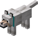 Tamed Wolf with Cyan Collar.png