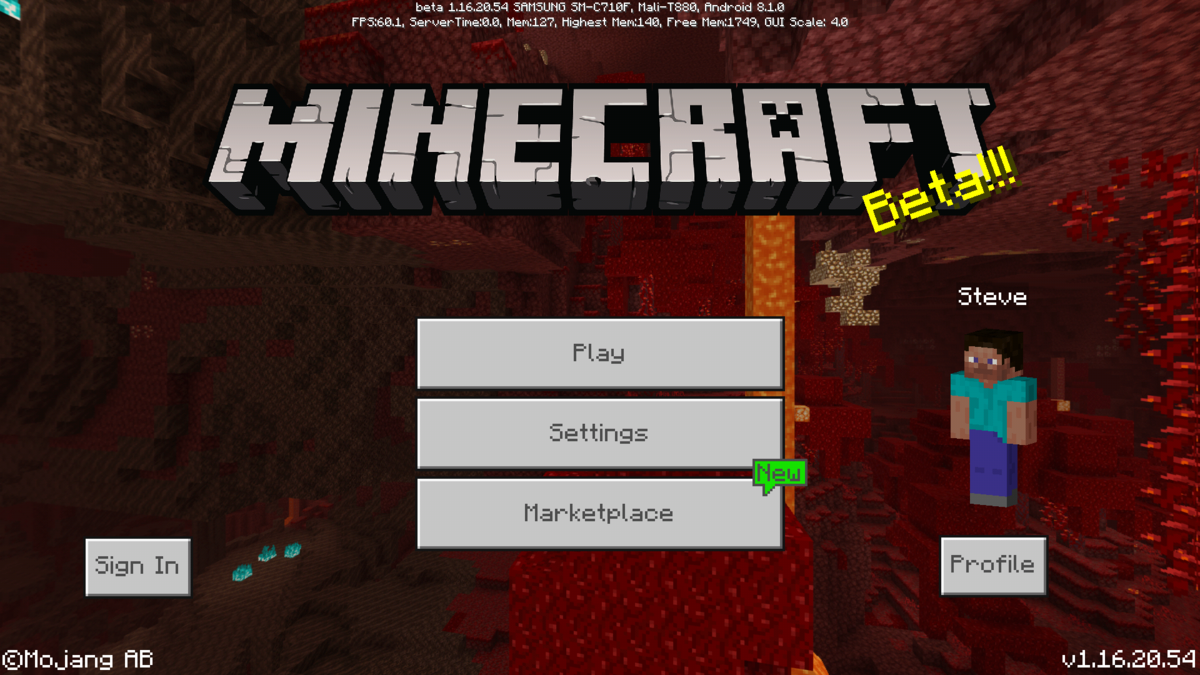 Bedrock Edition beta 1.16.20.54 – Official Minecraft Wiki