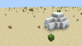 An igloo in a superflat desert