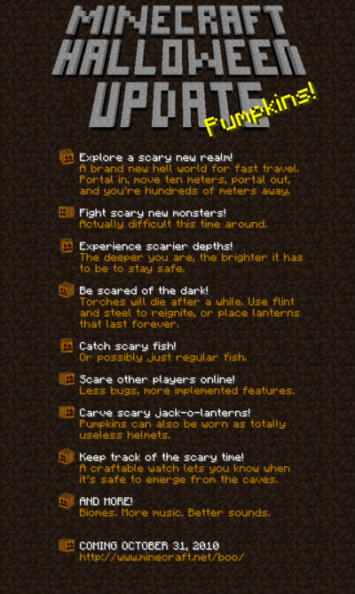 Halloween Update – Official Minecraft Wiki