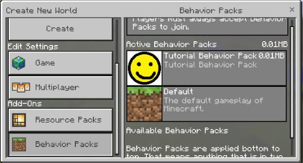 Tutorials/Creating behavior packs – Official Minecraft Wiki
