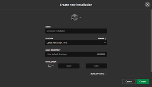 Java Edition launcher – Official Minecraft Wiki