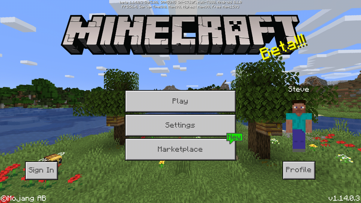 Bedrock Edition beta 1 14 0 3