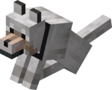 Sitting Tamed Wolf with Black Collar.png