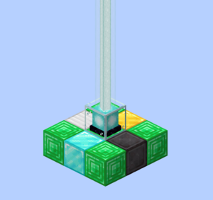 The beacon base can be made of the different mineral blocks combined.