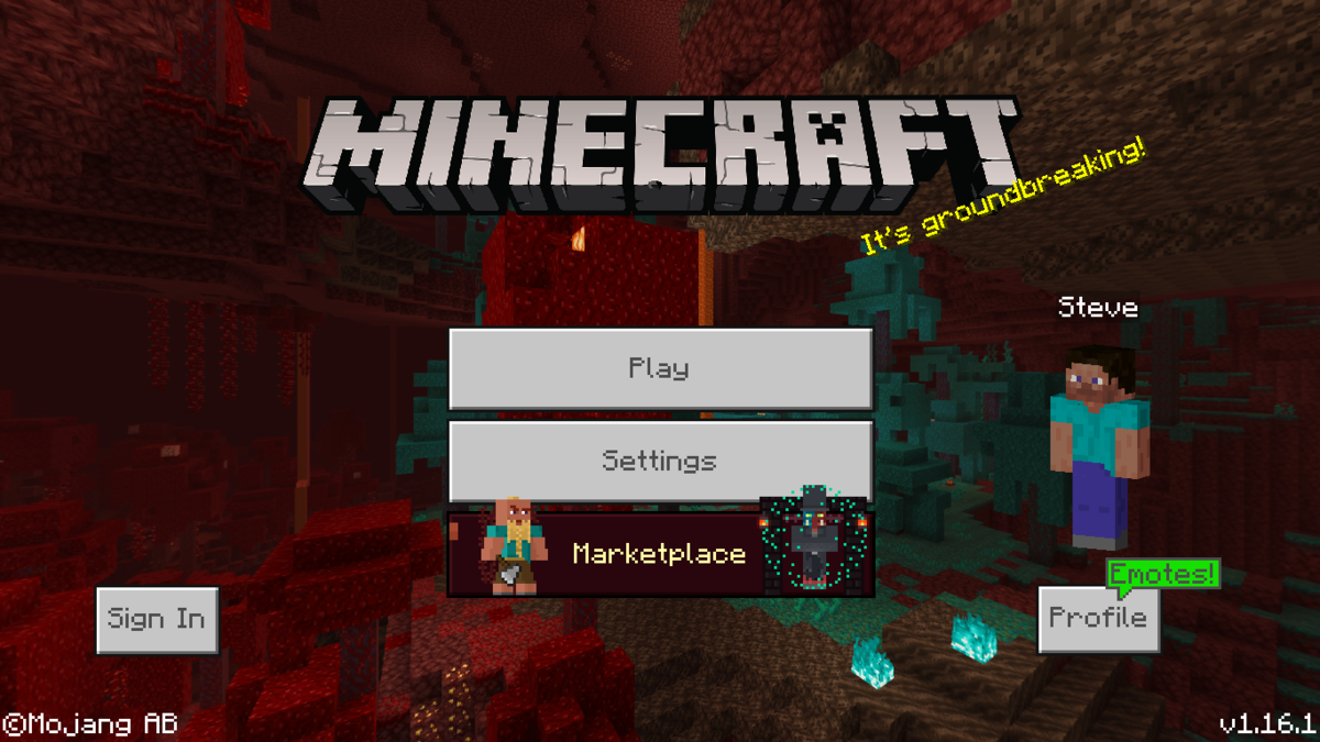 Bedrock Edition 1.16.1 – Official Minecraft Wiki