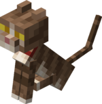 Sitting Tamed Baby Tabby Cat with Red Collar.png