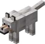 Tamed Wolf with Light Gray Collar.png