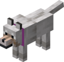 Tamed Wolf with Magenta Collar.png