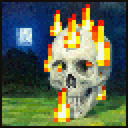 Burning Skull Painting JE1 BE1.png