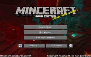 Menu screen – Official Minecraft Wiki