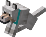 Sitting Tamed Wolf with Cyan Collar.png