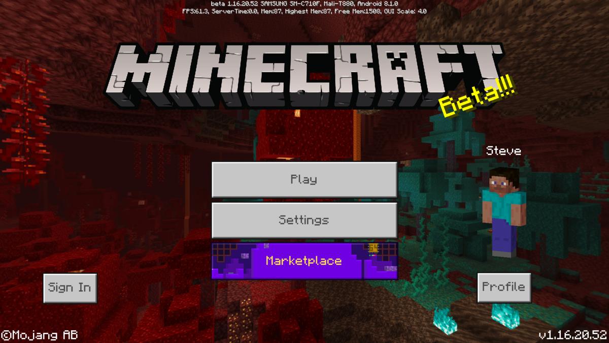 Bedrock Edition beta 1 16 20 52 Official Minecraft Wiki