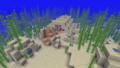 Small underwater ruins generated in Lukewarm Ocean biome