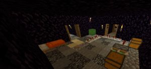 """The """"recommended"""" build of the Bedrock Edition piston-chest dupe method."""