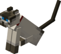Sitting Tamed Siamese Cat with Red Collar.png