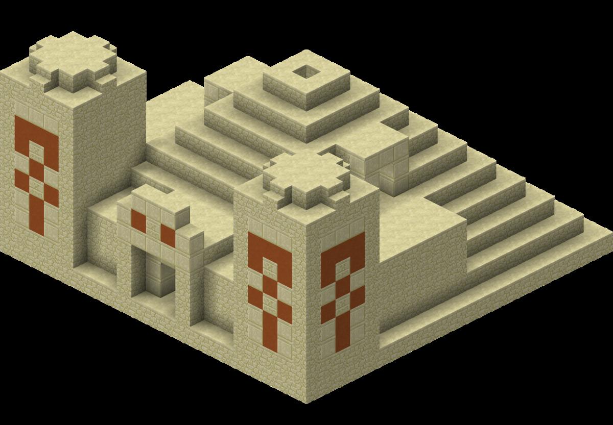 マイクラダンジョン砂漠の寺院シークレット