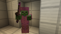 Zombie with enchanted wooden sword and enchanted leather armor.png