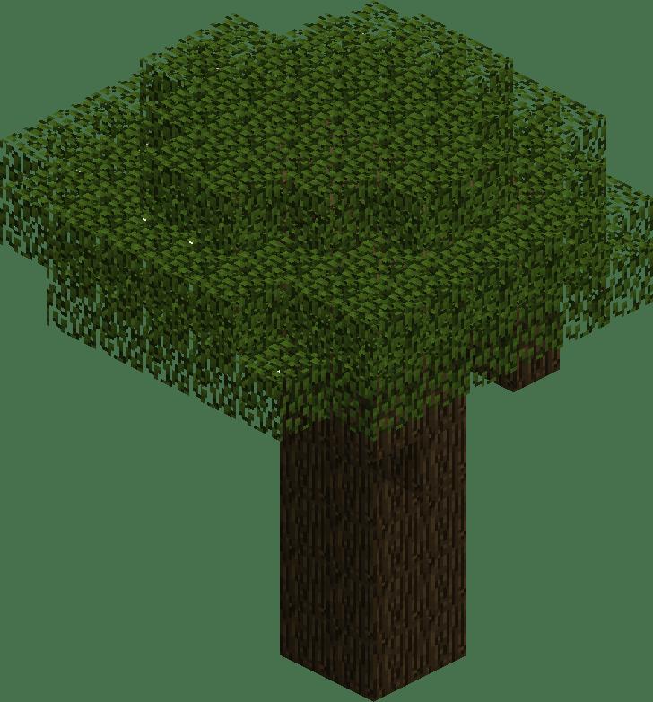 картинка дерева из майнкрафта человек