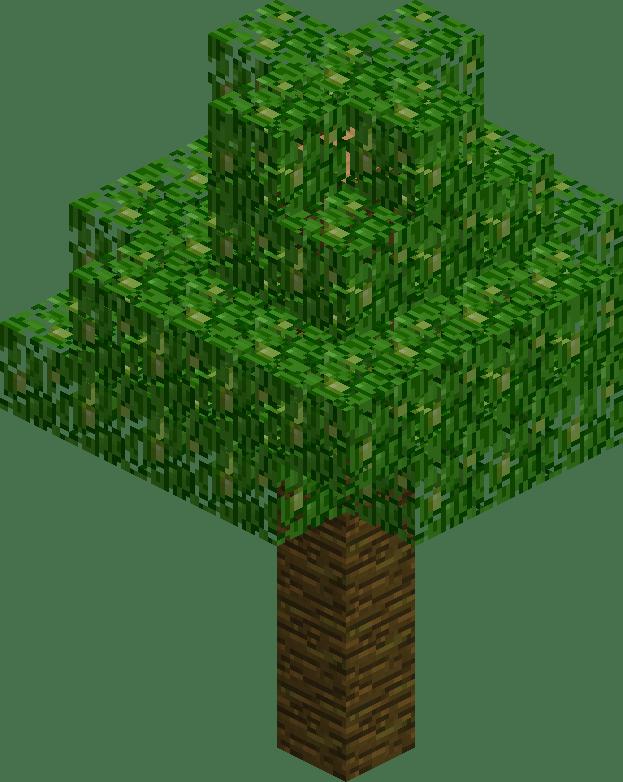 картинка дерева из майнкрафта служит главным украшением