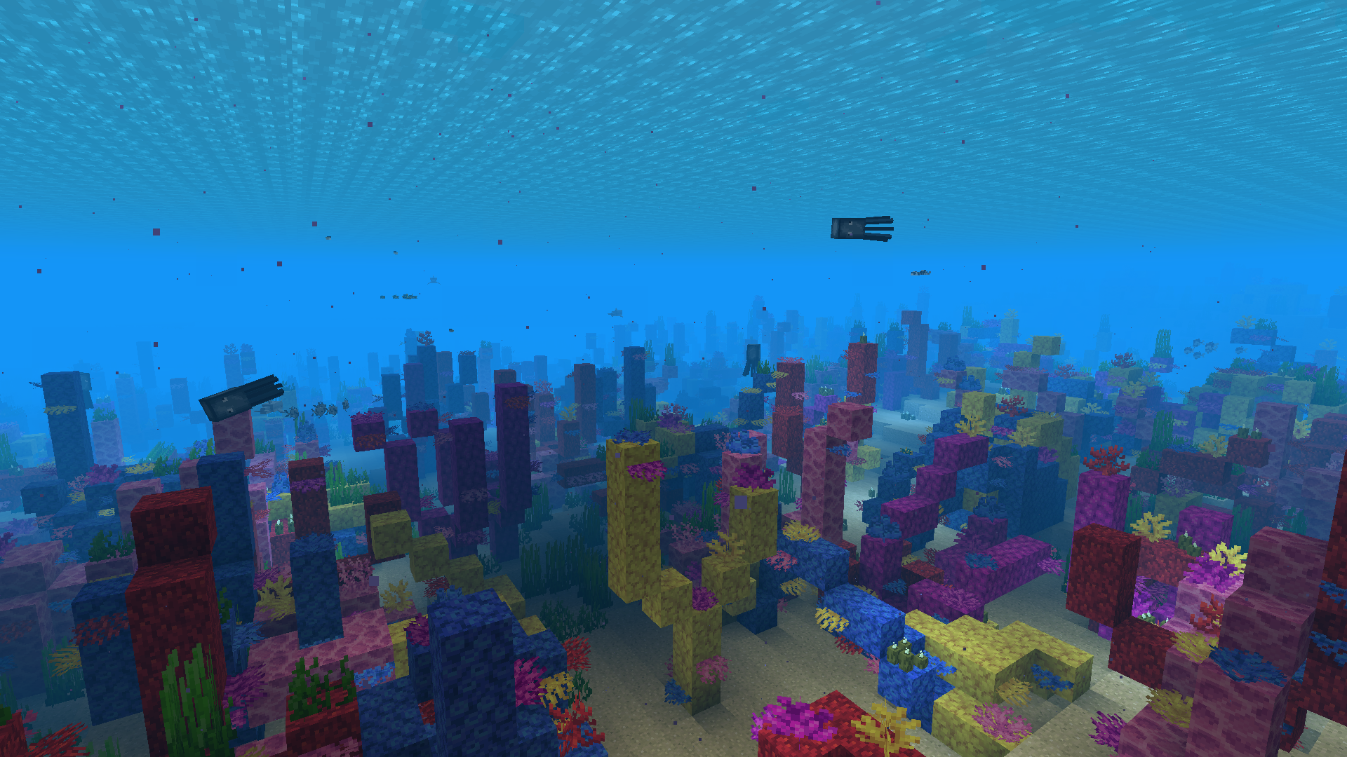 Картинка майнкрафт под водой