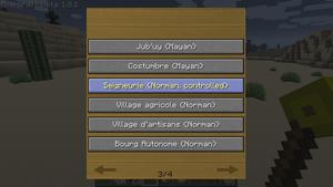 Страница из списка возможных поселений, после использования жезла вызова на золотом блоке.