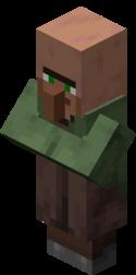 Нищий житель носит зелёную робу.