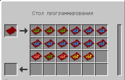 Интерфейс работы стола программирования
