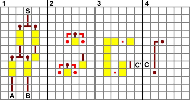 全加器的红石示意图