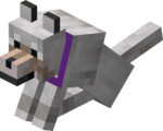 Sitting Tamed Wolf with Purple Collar.png