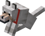 Sitting Tamed Wolf with Red Collar.png