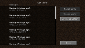 The Edit World menu on an expired Realm.