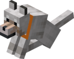 Sitting Tamed Wolf with Orange Collar.png