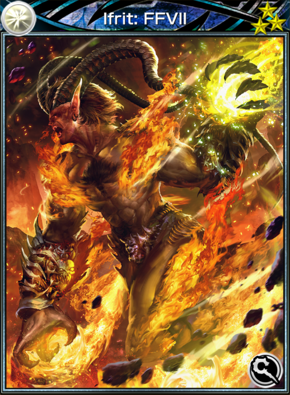 Ifrit Ffvii Card Mobius Final Fantasy Wiki
