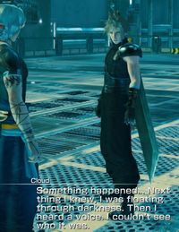 Cloud talks about his arrival.jpg