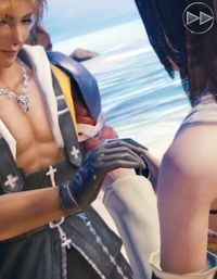 Tidus and Yuna hold hands.jpg