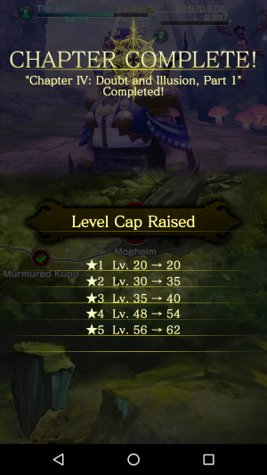Upon completing Mogheim, the level cap for ability cards raises.