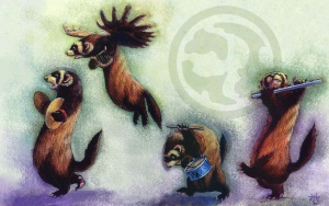 Ferrets of Ulgrotha, as depicted by Heather Hudson in Duelist #7.