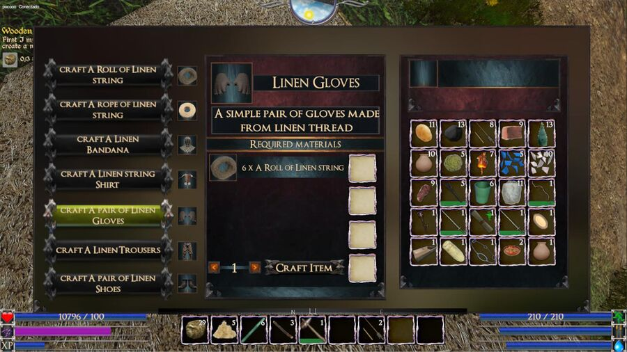 A Pair Of Linen Gloves