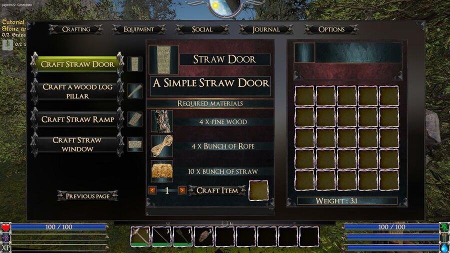 Straw Door