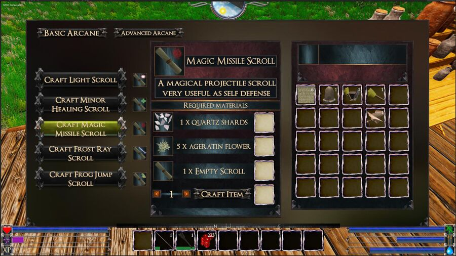 Magic Missile Scroll