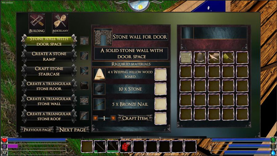 Stone WallWith Door Space