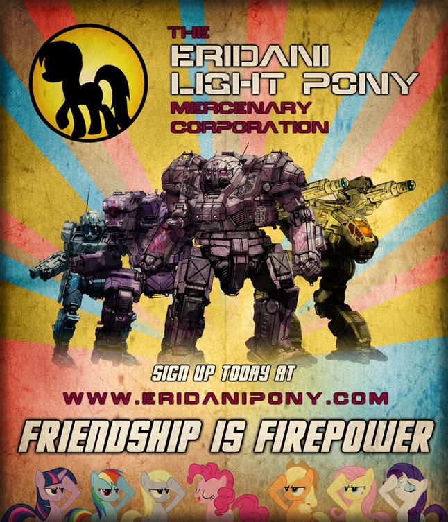Eridani Light Pony Propaganda Poster