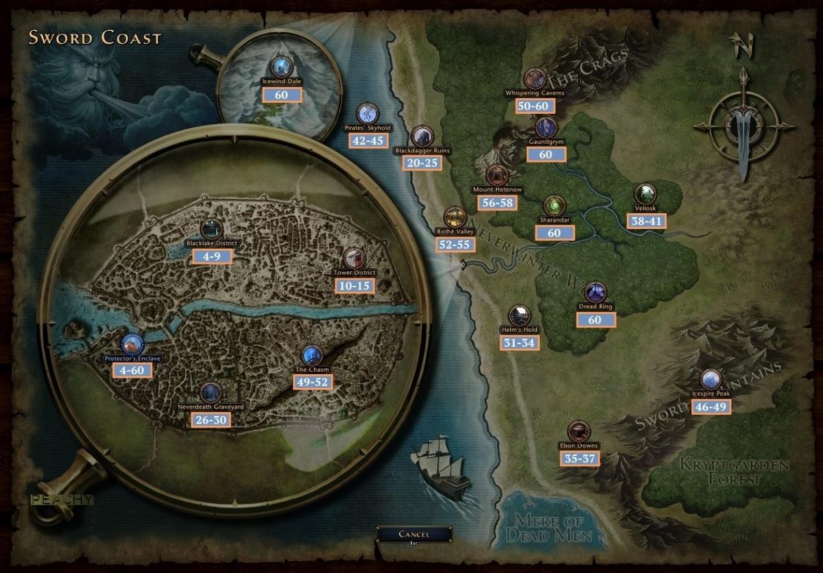 World Map   Official Neverwinter Wiki