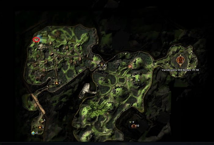 Ebon Downs Scrying Stones Map - Official Neverwinter Wiki