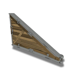 Sloping Wood Panel